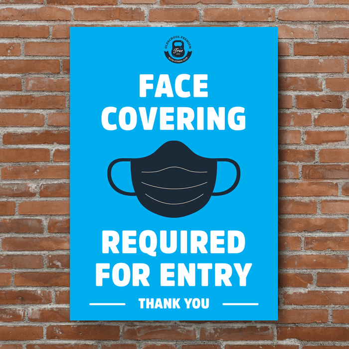 PVC Posters - Face Covering Required - Protect Signs