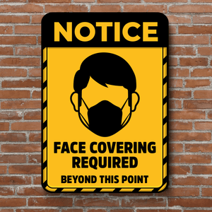 PVC Posters - Face Covering Required