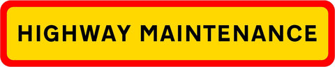 HGV Marker Board Highway Maintenance