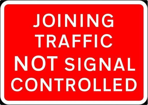 1050x750mm Joining Traffic Not Signal Controlled - 7022 - Rigid Plastic (4133171593250)