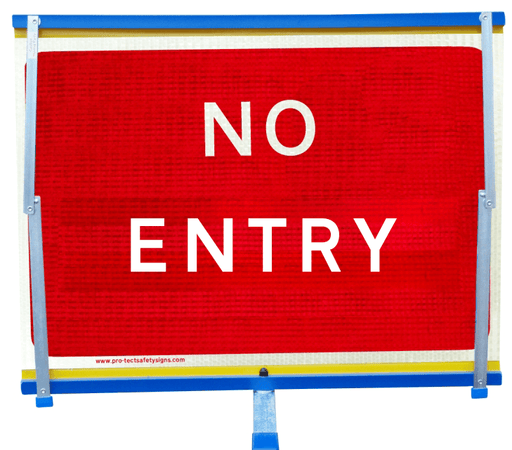 F2 Flexible Fold-Away Sign - No Entry - Protect Signs