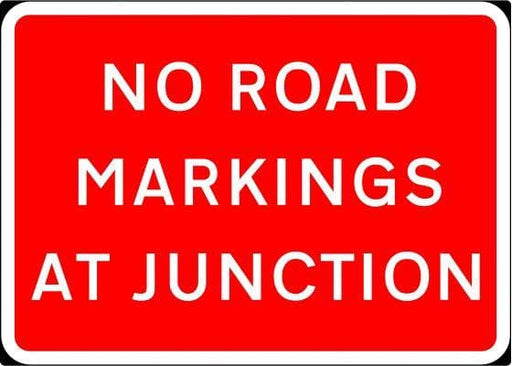 1050x750mm No Road Markings At Junction - 7012 - Rigid Plastic (4133222416418)