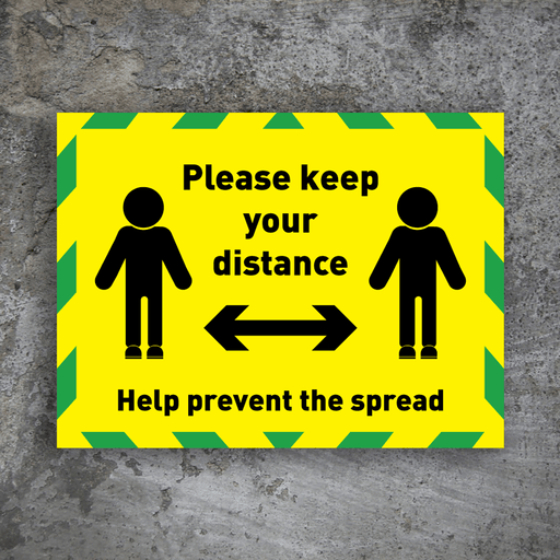 Please Keep Your Distance - Protect Signs
