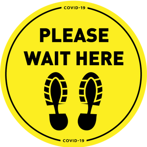 Please Wait Here Floor Vinyl