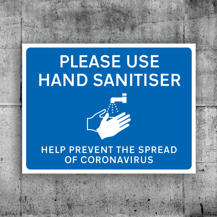 Please Use Hand Sanitiser Sign - Protect Signs