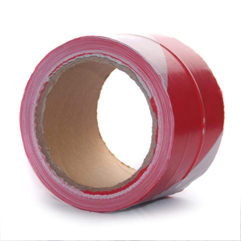 Economy Red White Barrier Tape 100m