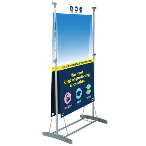 Portable Lightweight Sneeze Screen - Protect Signs