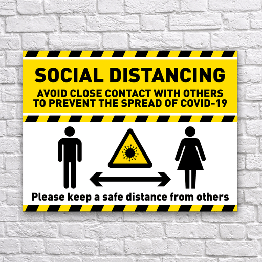 Social Distancing Sign - Protect Signs