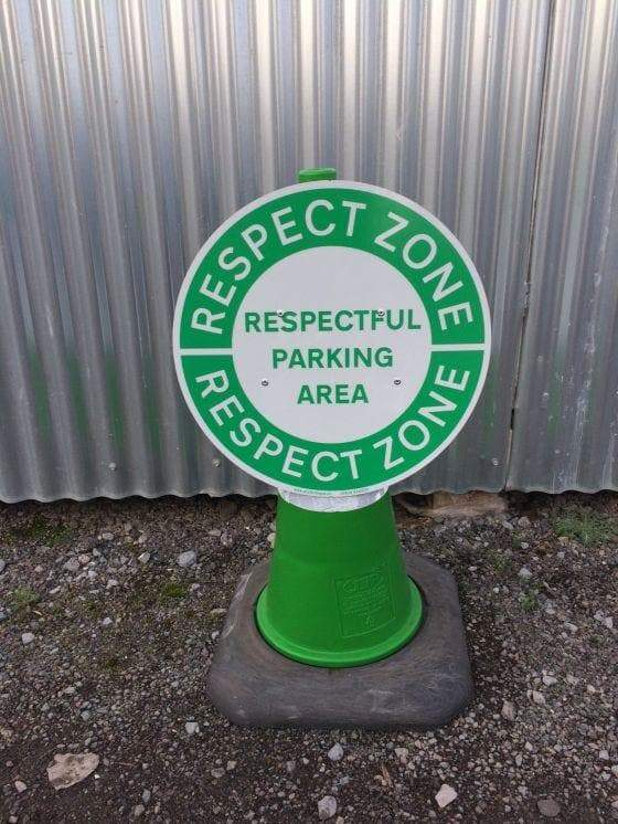 Circle Cone Sign - Respect (4308430979106)