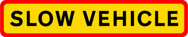 HGV Marker Board - Slow Vehicle (4101179506722)