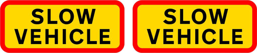 HGV Marker Board Slow Vehicle -1 pair (4101182423074)