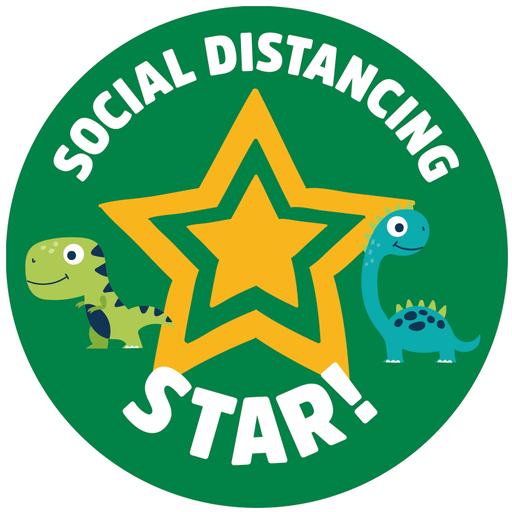 Social Distancing Reward Stickers - Box of 250 - Protect Signs