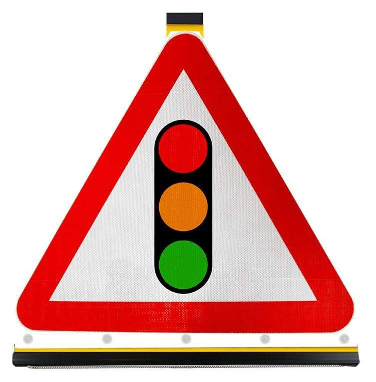 Flexible Triangle - Traffic Signals Ahead - 543 (4134286458914)
