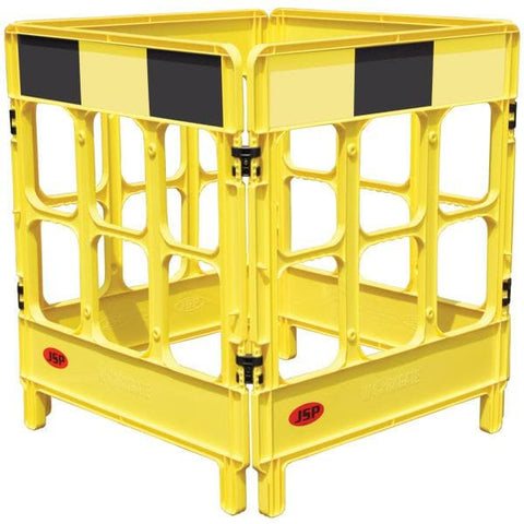 Workgate Barrier Yellow Black 4-Gate