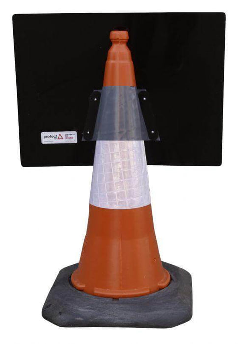 600x450mm Cone Sign - Pedestrians C/W Movable Arrow - 7018