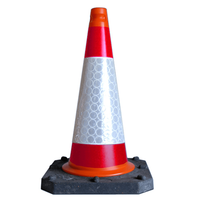 Pack of 10 - 500mm Bigfoot Fully Reflective Cone
