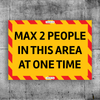 Max 2 People Sign