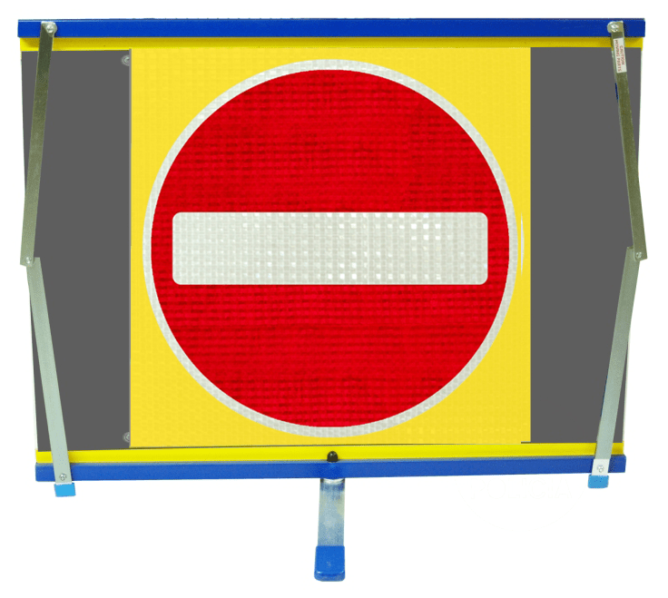 F2 Flexible Fold-Away Sign - No Entry