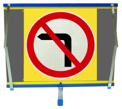F2 Flexible Fold-Away Sign - No Left Turn - Protect Signs