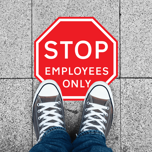 STOP EMPLOYEES ONLY - Protect Signs
