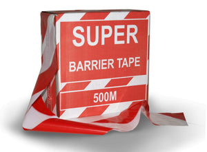 Super Red and White Barricade Tape (3926319005730)