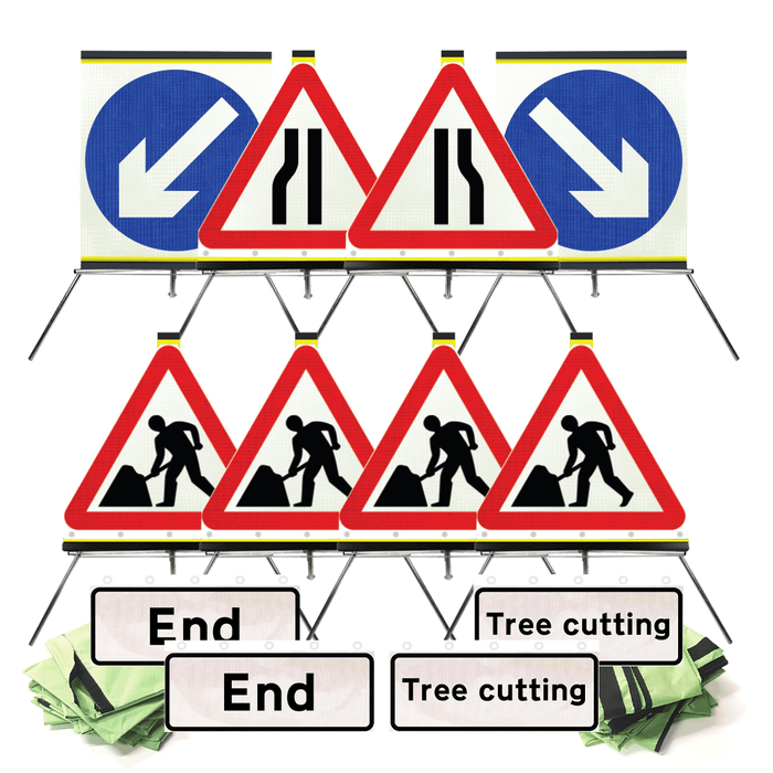TREE CUTTING Flexible Sign Pack 750mm