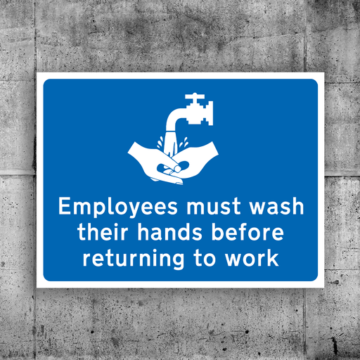Employees must wash hands - Protect Signs