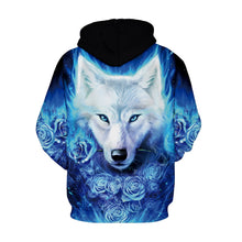 Load image into Gallery viewer, 3D Wolf Print Long Sleeve Loose Hoodie Hip Hop Clothes