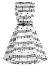 Load image into Gallery viewer, Plus Size Music Pattern 1950s Dress