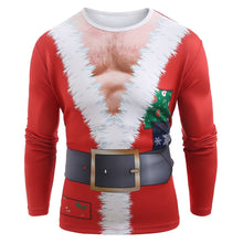 Load image into Gallery viewer, Funny Santa Muscle Clothes Print Christmas T-shirt