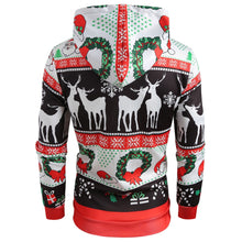 Load image into Gallery viewer, Printed Christmas Pattern Pullover Hoodie
