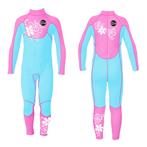 SLINX Diving Suit Siamese Long Sleeves Keep Warm Swimsuit for Children