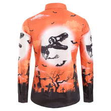 Load image into Gallery viewer, Halloween Printed Casual Long Sleeves Shirt