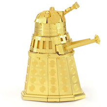 Load image into Gallery viewer, Metal Earth Doctor Who Gold Dalek