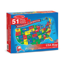 Load image into Gallery viewer, U.S.A. Map Floor Puzzle - 51pc