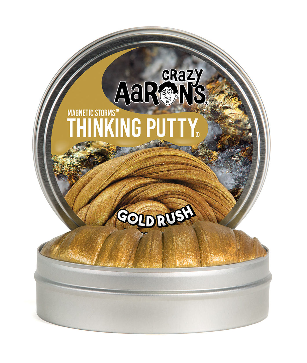 Crazy Aaron's Thinking Putty - Magnetic Storms - Gold Rush