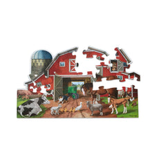 Load image into Gallery viewer, Busy Barn Shaped Floor Puzzle - 32pc