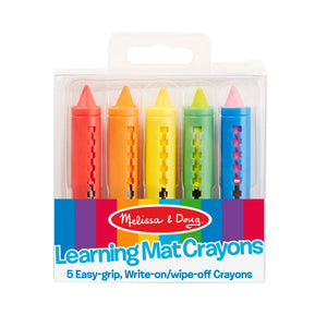 Learning Mat Crayons - 5 colors