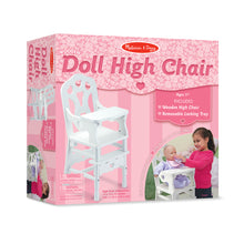 Load image into Gallery viewer, Wooden Doll High Chair