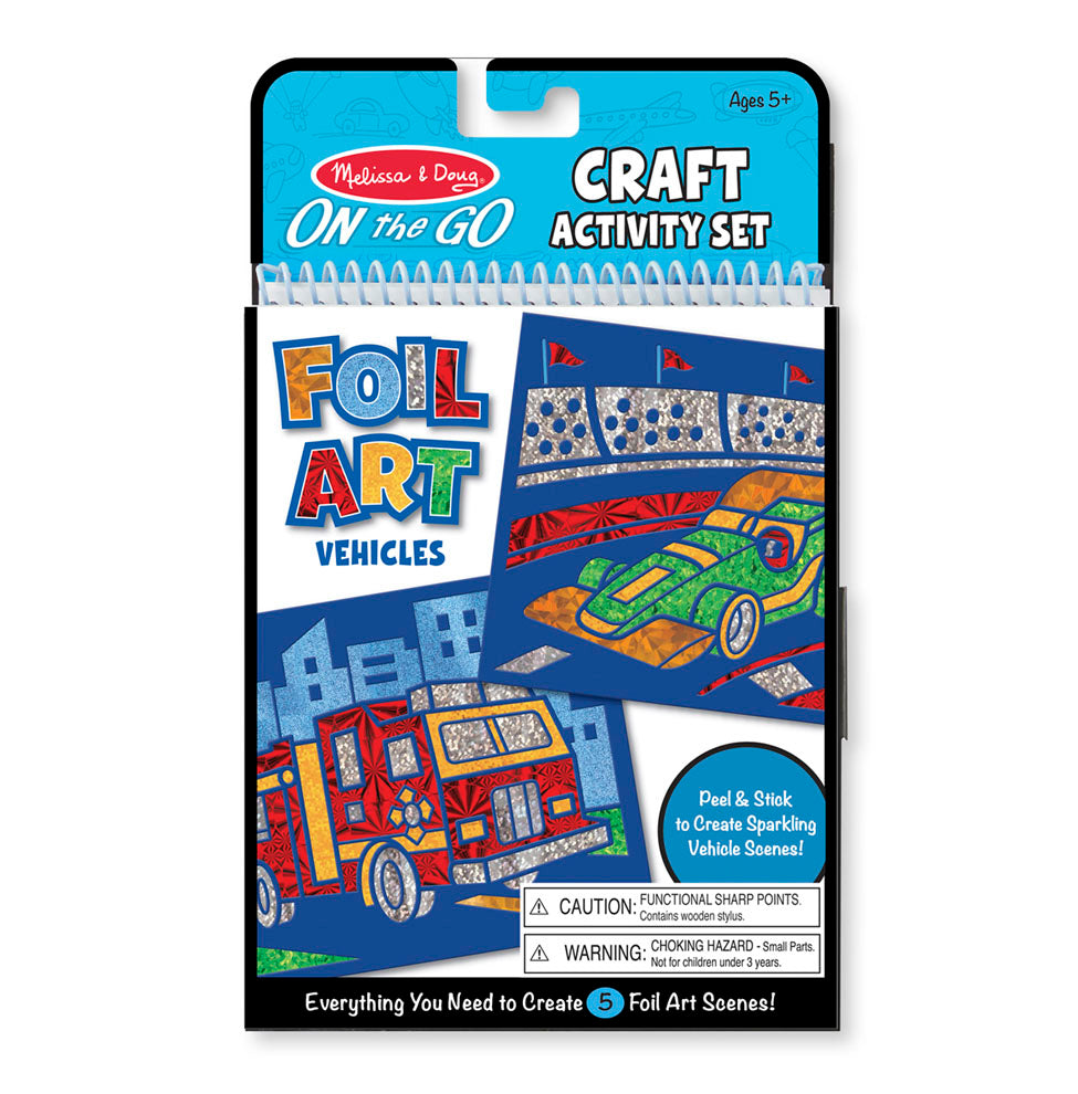 On-the-Go Crafts - Foil Art Vehicles