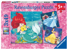 Load image into Gallery viewer, Princesses - 3 x 49pc Puzzles