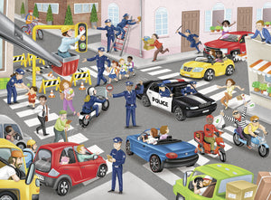 Police on Patrol - 100pc Puzzle