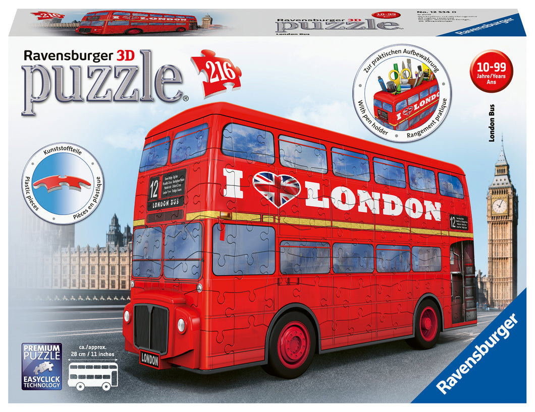 London Bus - 216pc 3D Puzzle