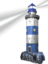 Load image into Gallery viewer, Lighthouse - Night Edition - 216pc 3D Puzzle