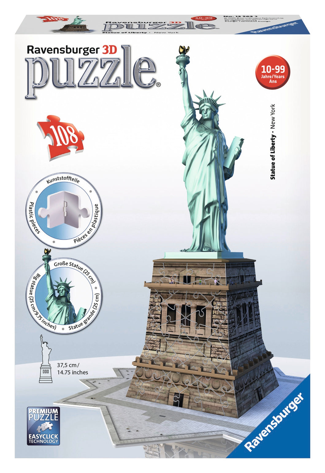 Statue of Liberty - 108pc 3D Puzzle