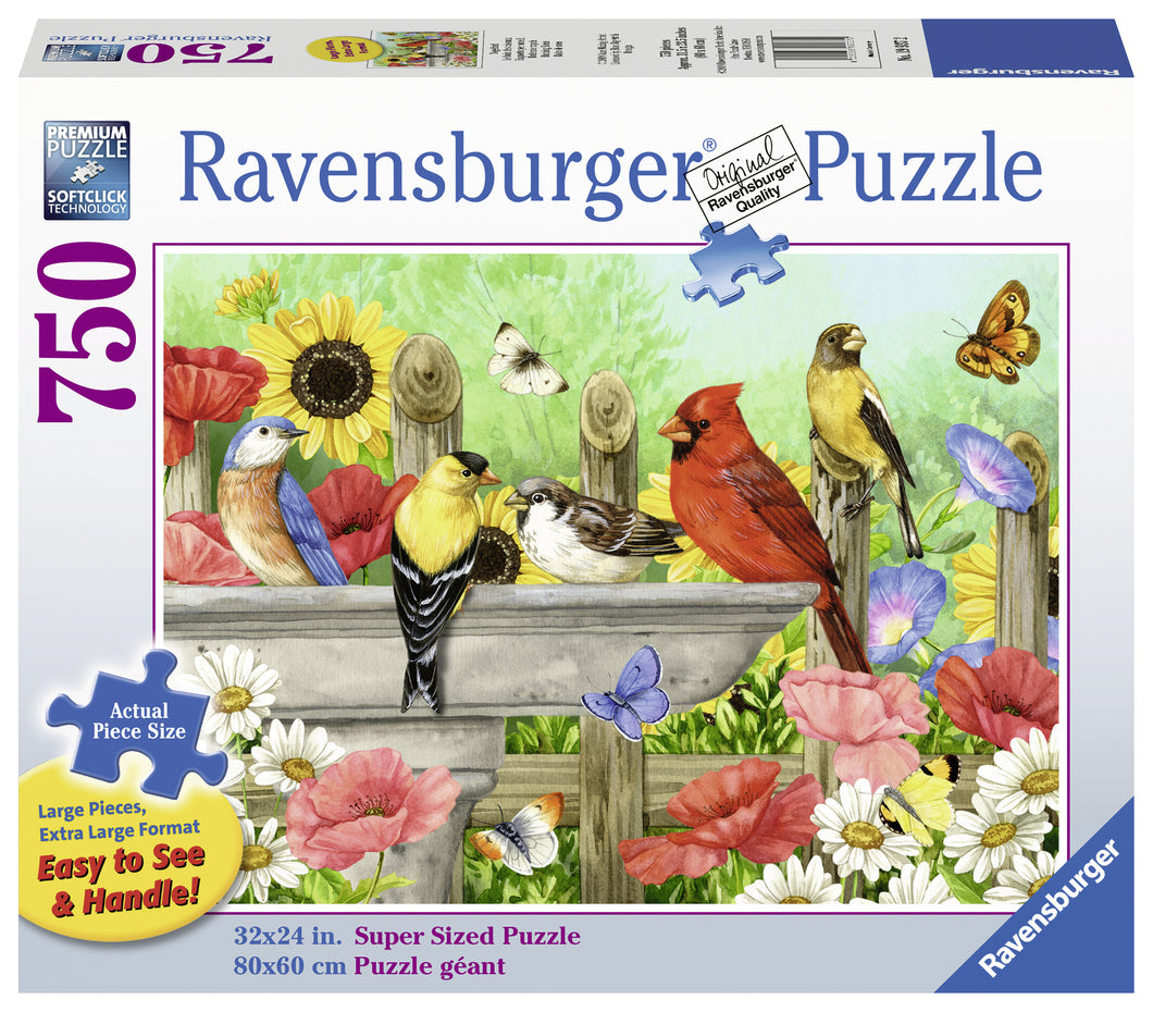 Bathing Birds - 750pc Large Format Puzzle