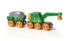 Load image into Gallery viewer, BRIO Clever Crane Wagon