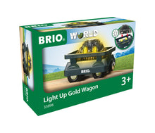 Load image into Gallery viewer, BRIO Light Up Gold Wagon