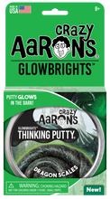 Load image into Gallery viewer, Crazy Aaron's Thinking Putty - Glowbrights - Dragon Scales