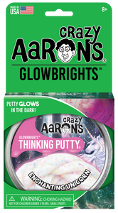 Crazy Aaron's Thinking Putty - Glowbrights - Enchanting Unicorn